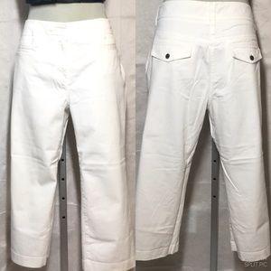 Tommy White Cotton Capris Size 14